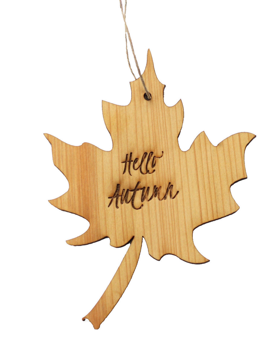 Wood Ornament - Hello Autumn - Harley London