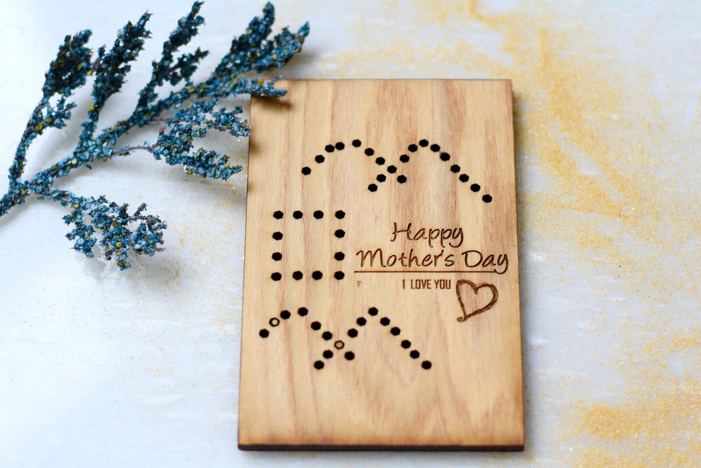 Wooden Mom's Day Greeting Card by Harley London