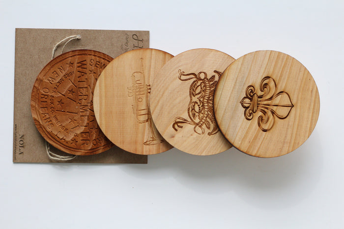 Wood Coasters - NOLA - Harley London
