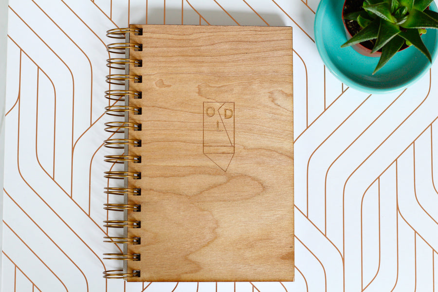 Wooden Wedding Planner - Something Old Wedding Notebook by Harley London - Made in New Orleans, LA