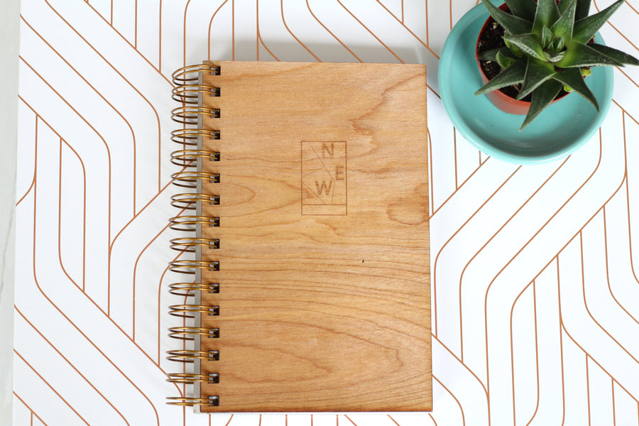 Wedding Journal - Something New Wooden Wedding Journal - Harley London