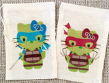 Ninja Kitty Favor Bags - Set of 12