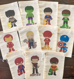 Superhero Favor Bags - Set of 12