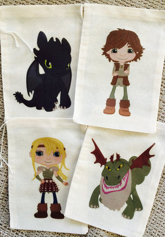 Dragon Training Favor Bags - Set of 12