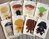 Star Wars Party Favor Bags - set of 12