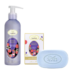 Soap and Body Cream Gift Set in Jute Bag Douce France