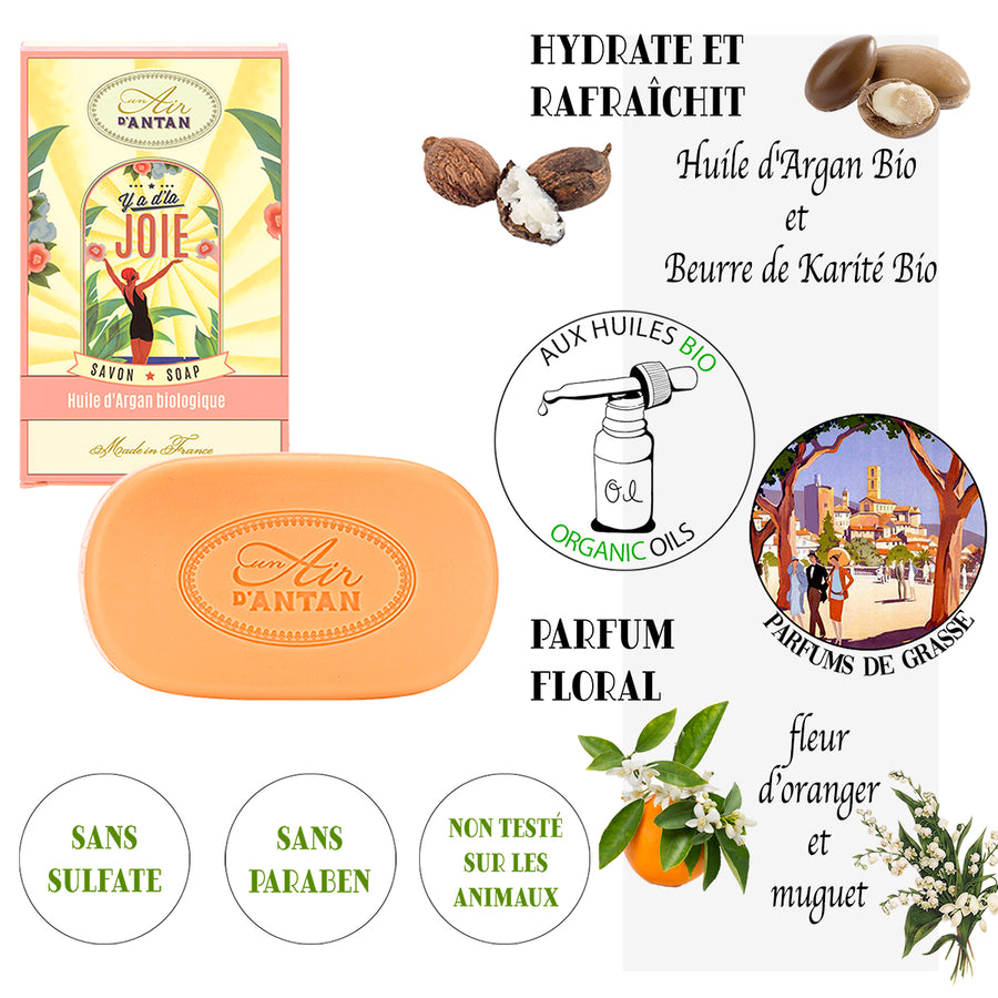 French Organic Oils Soaps Vintage Gift Set (5 soaps)