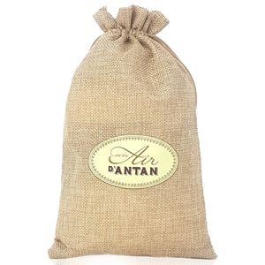 Shower Gel and Body Lotion Gift Set in Jute Bag Douce France - Almond & Fig