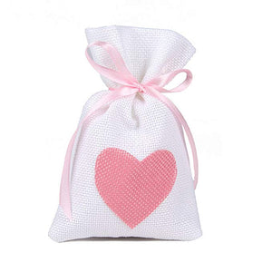 Hand creams gift set in heart jute bag La Vie en Rose (2x25ml)