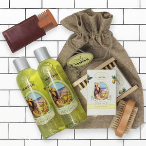 Men Gift Bath & Shower Set PROVENCE, a vintage beard comb for free!