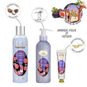 Skincare Trio Tin Gift Set DOUCE - Almond, Fig, Vetiver