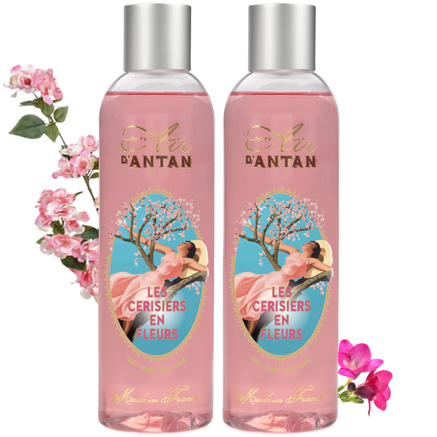Les Cerisiers en Fleurs, the Shower Gel full of Spring zing - Twin Pack