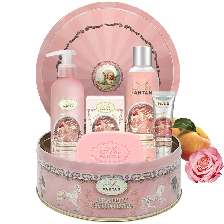 Skincare Set CAROUSEL ROSE - Rose, Peach, Patchouli