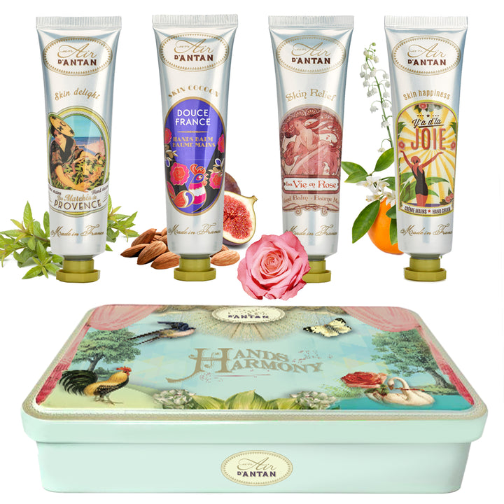 Hand Cream TIN GIFT SET (4 hand creams 25 ml)