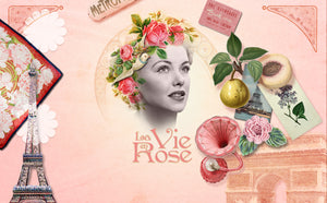 Soap and Body Cream Set in Jute Bag La Vie en Rose
