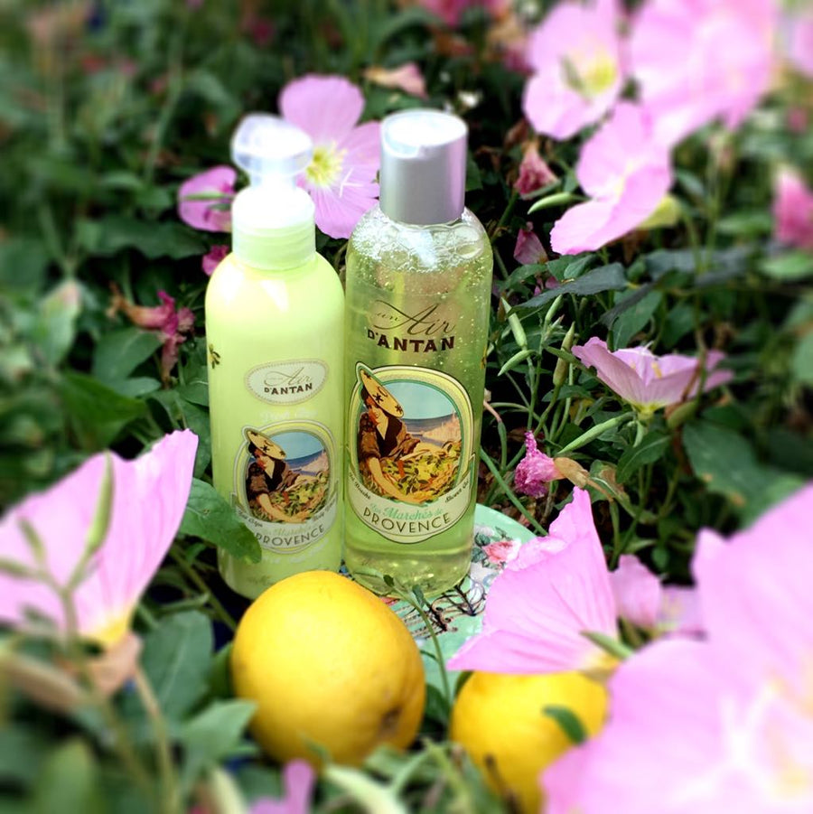 body creams and shower gel verbena bergamot lemon