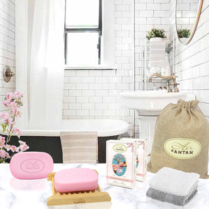 Les Cerisiers en Fleurs, Bathroom Accessories & Soaps Set