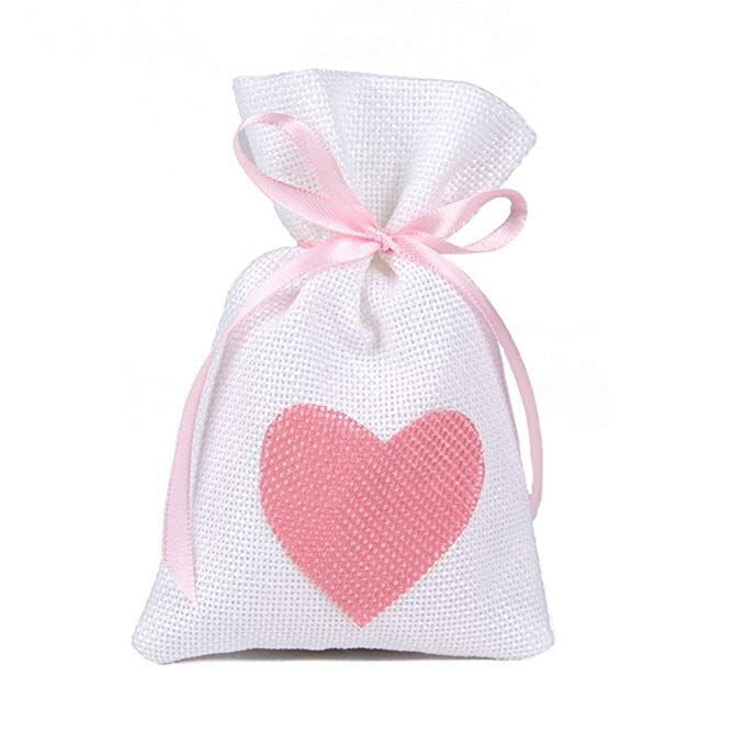 Hand creams gift set in heart jute bag Douce France (2x25ml)