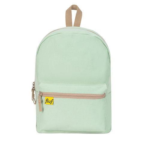 B Pack Mint Organic Cotton Backpack Front