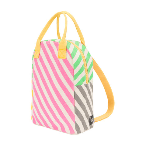 Lil B Pack Backpack Pink Candy Stripe Print - Side View