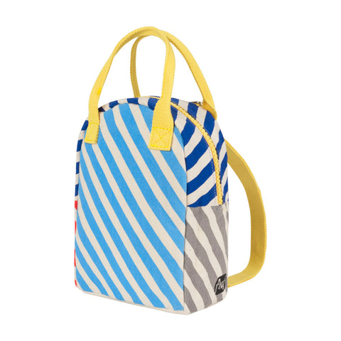 Lil B Pack Backpack Blue Superstar Stripe Pattern - Side View