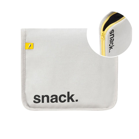 Snack Mat - 'Snack' Black with Yellow Zip
