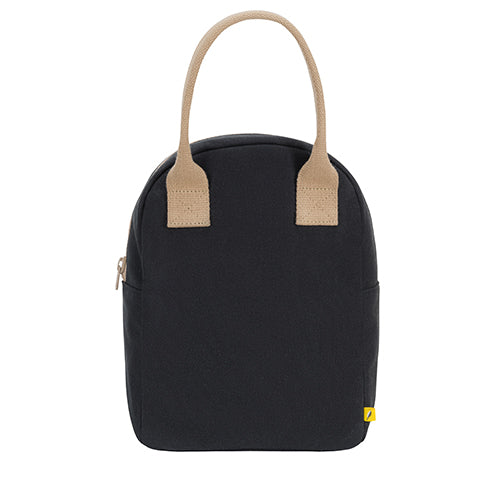 Fluf Zipper Lunch Bag - Black Solid