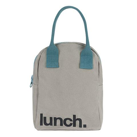 Fluf Zipper Lunch Bag - Grey MIDNIGHT