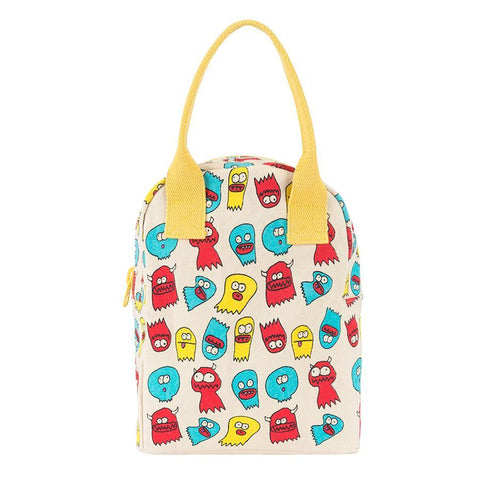 Fluf Zipper Lunch Bag - JELLY GHOSTS