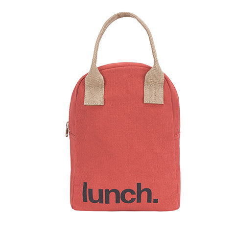 Fluf Zipper Lunch Bag - Solid Red