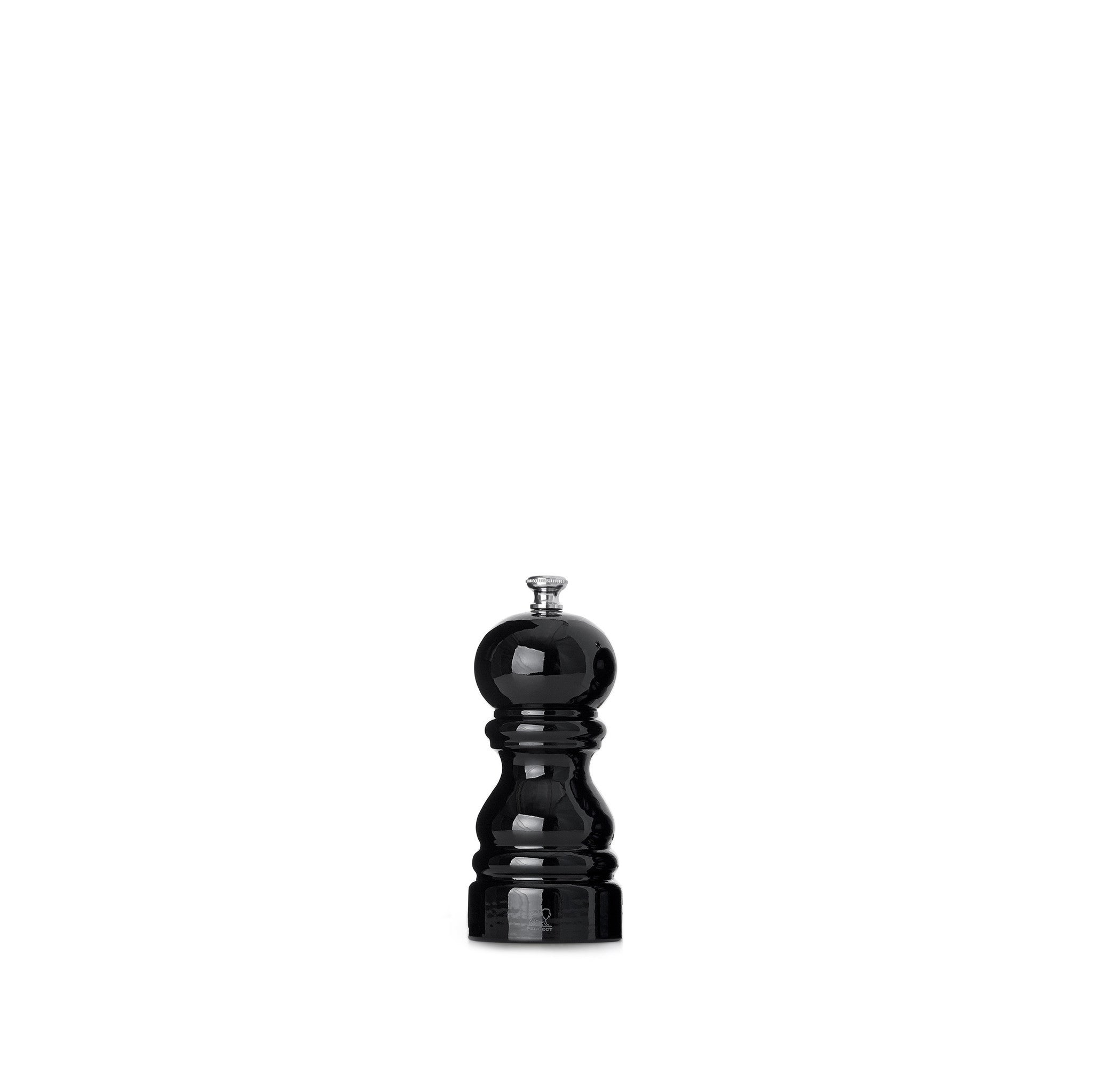 Peugeot Paris Black Lacquered Salt & Pepper Mill Set, 12cm