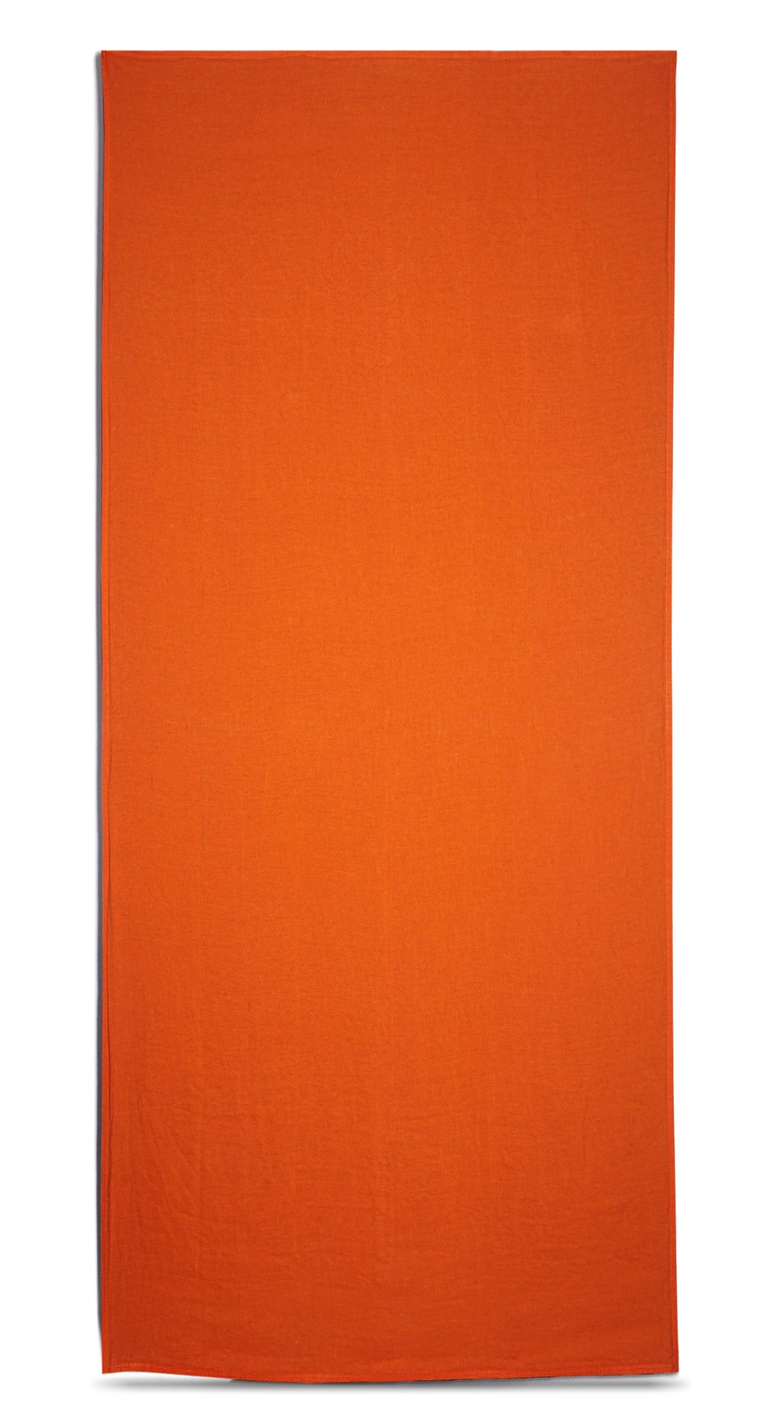 Reversible Linen Tablecloth in Dark Blue and Vibrant Orange