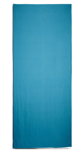 Reversible Linen Tablecloth in Coffee Brown and Sky Blue