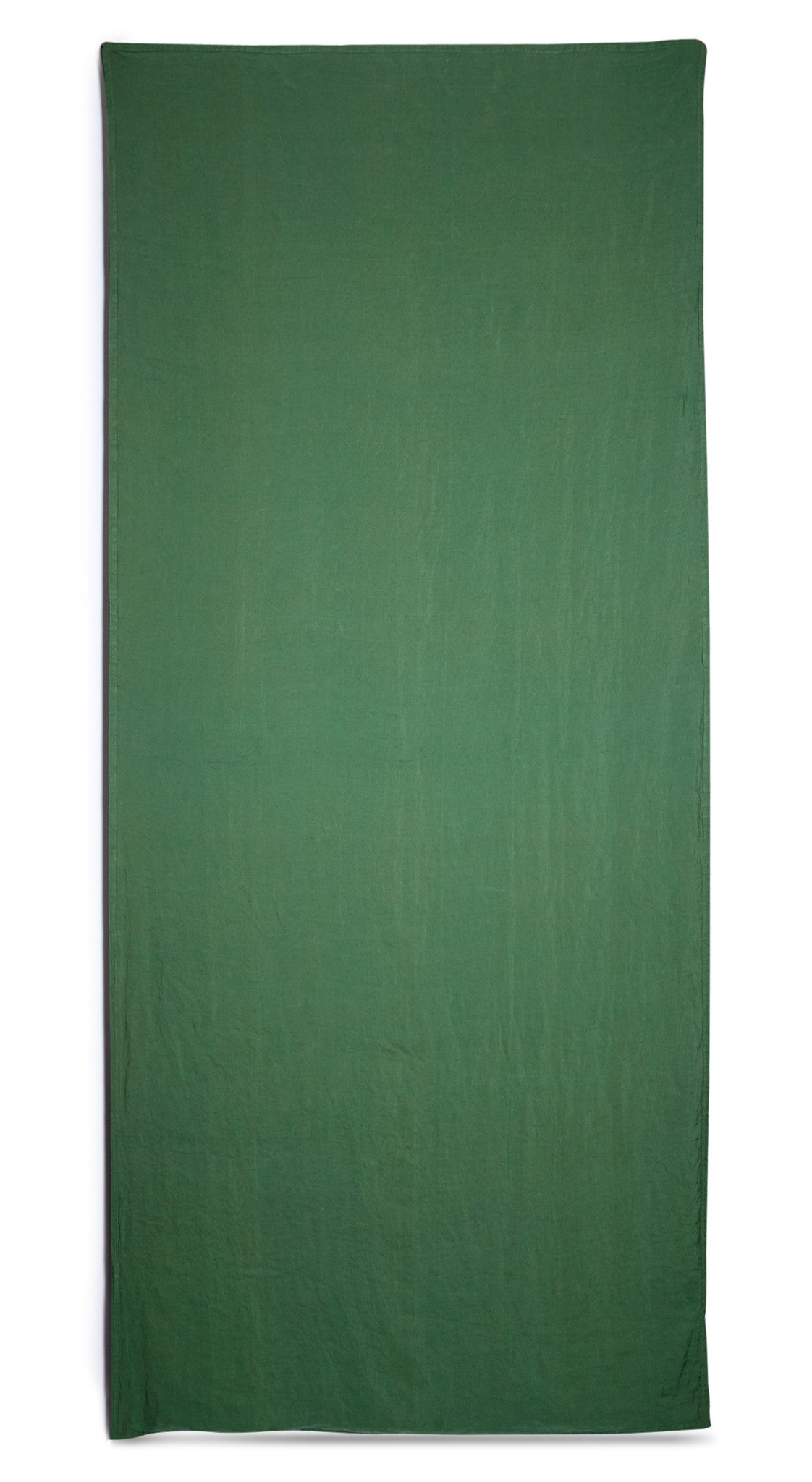 Reversible Linen Tablecloth In Slate Grey And Lime Green