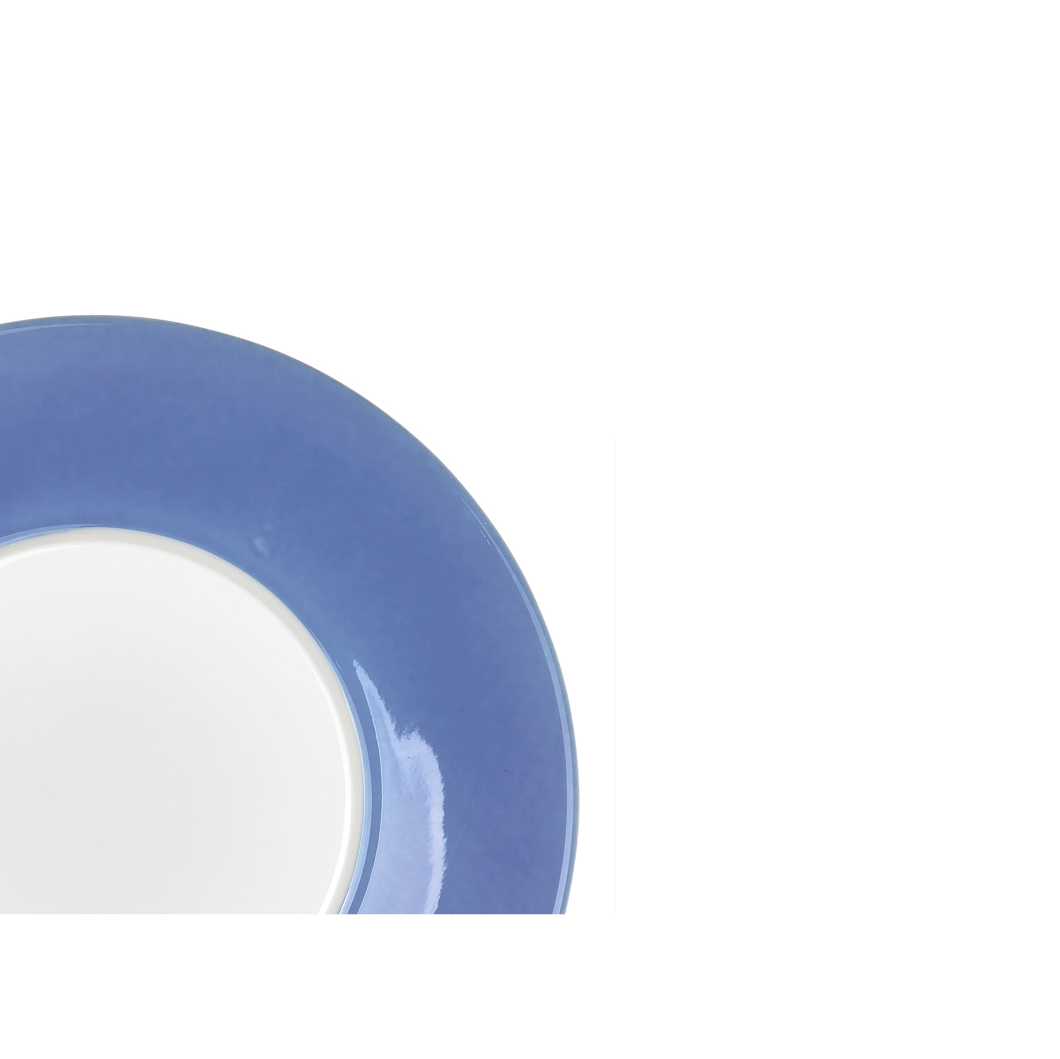 S&B 16cm Porcelain Dessert Plate with Blue Edge