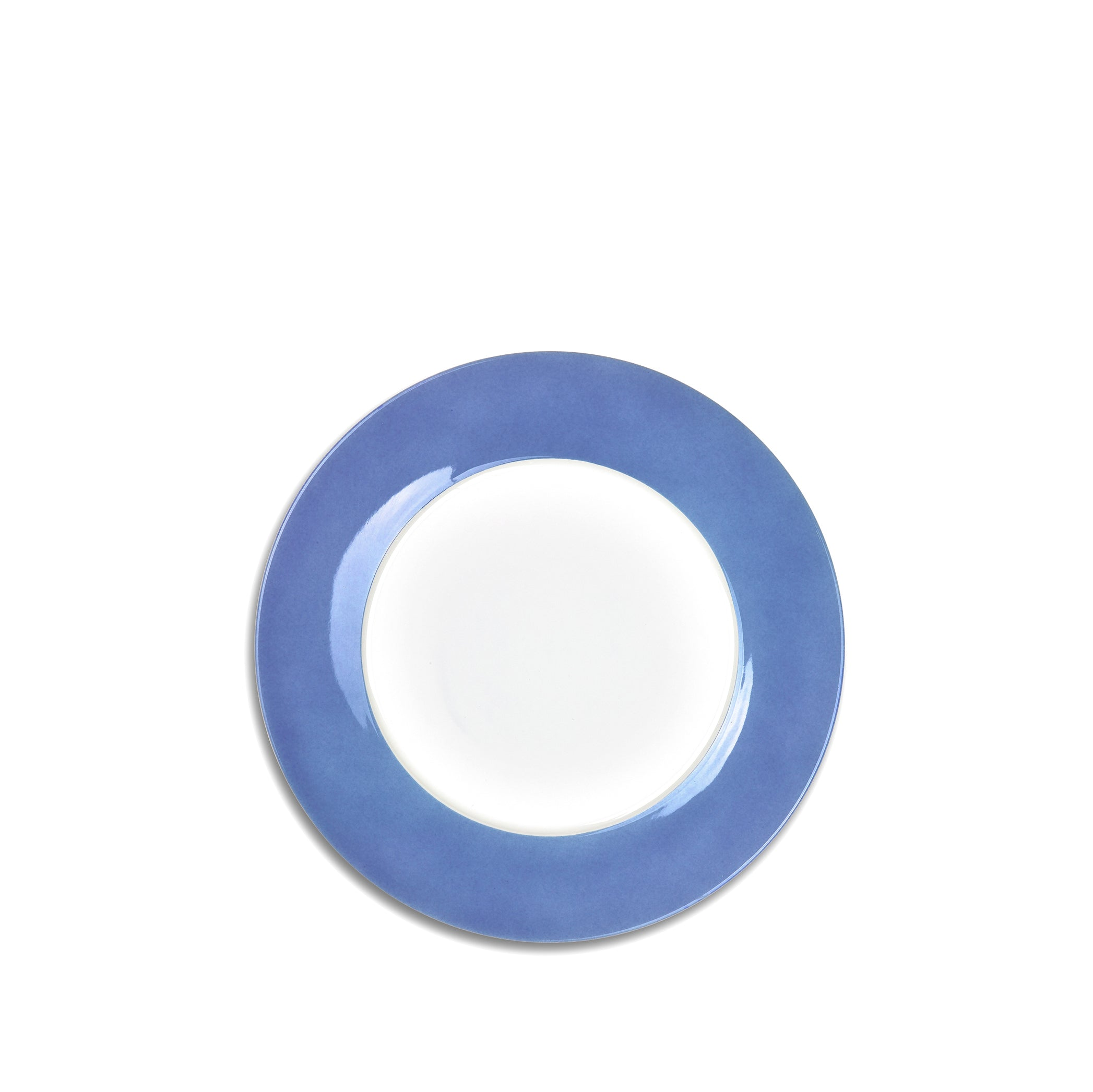 S&B 20cm Porcelain Side Plate with Blue Edge