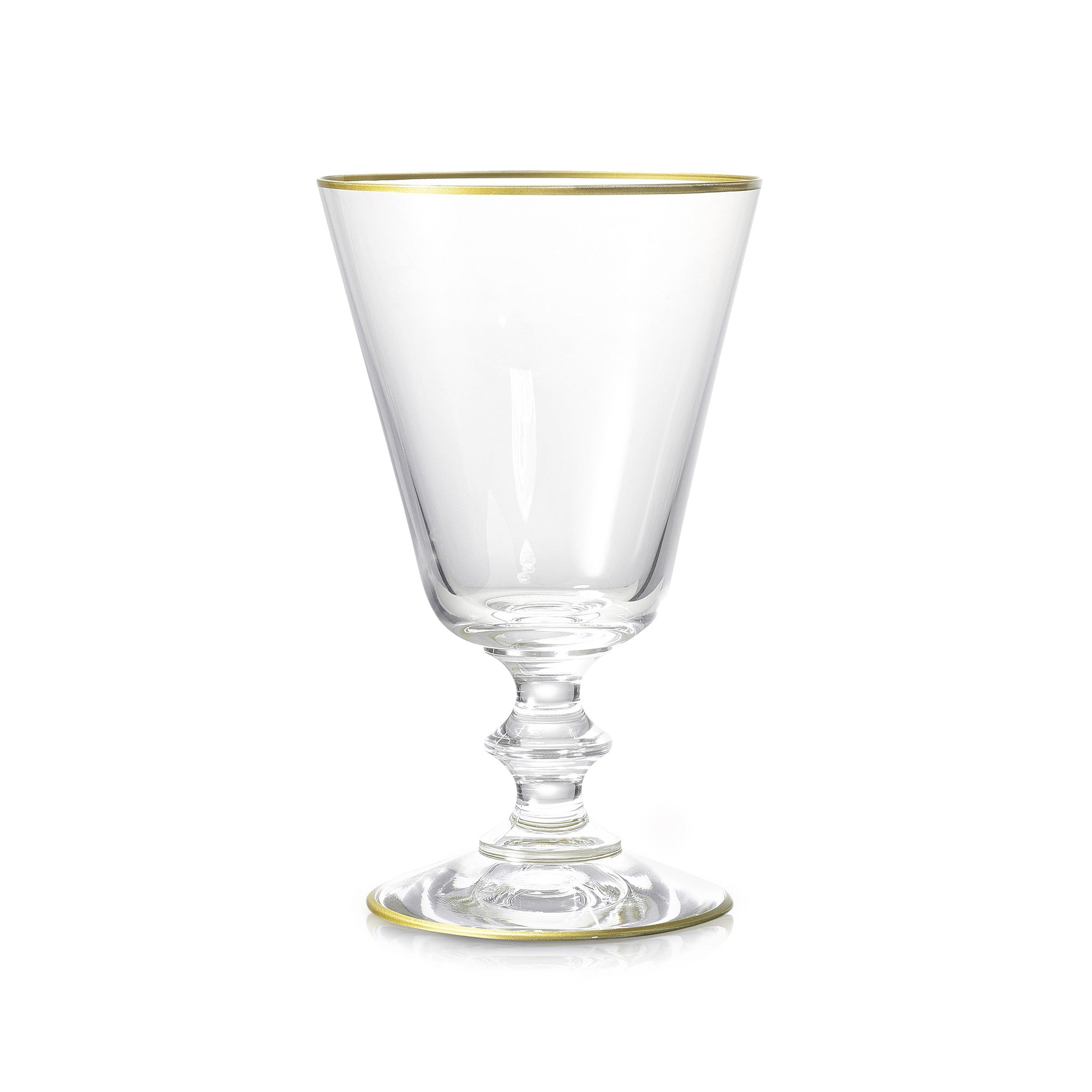 S&B Classic Red Wine Glass With Gold Rim, 24cl