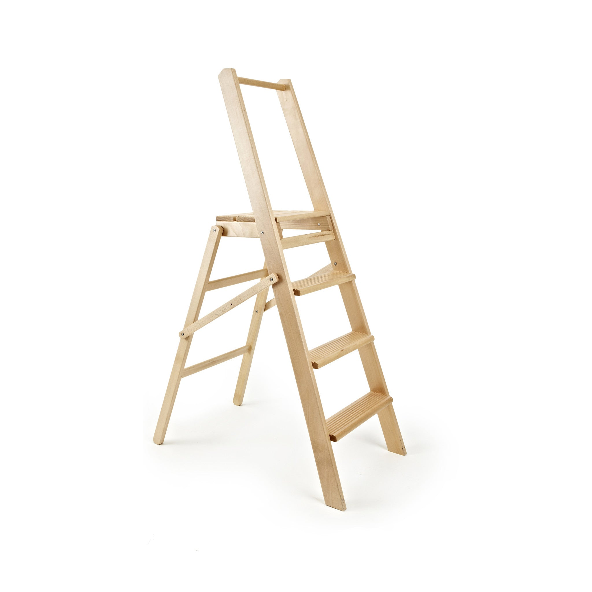 Wooden Four Step Ladder