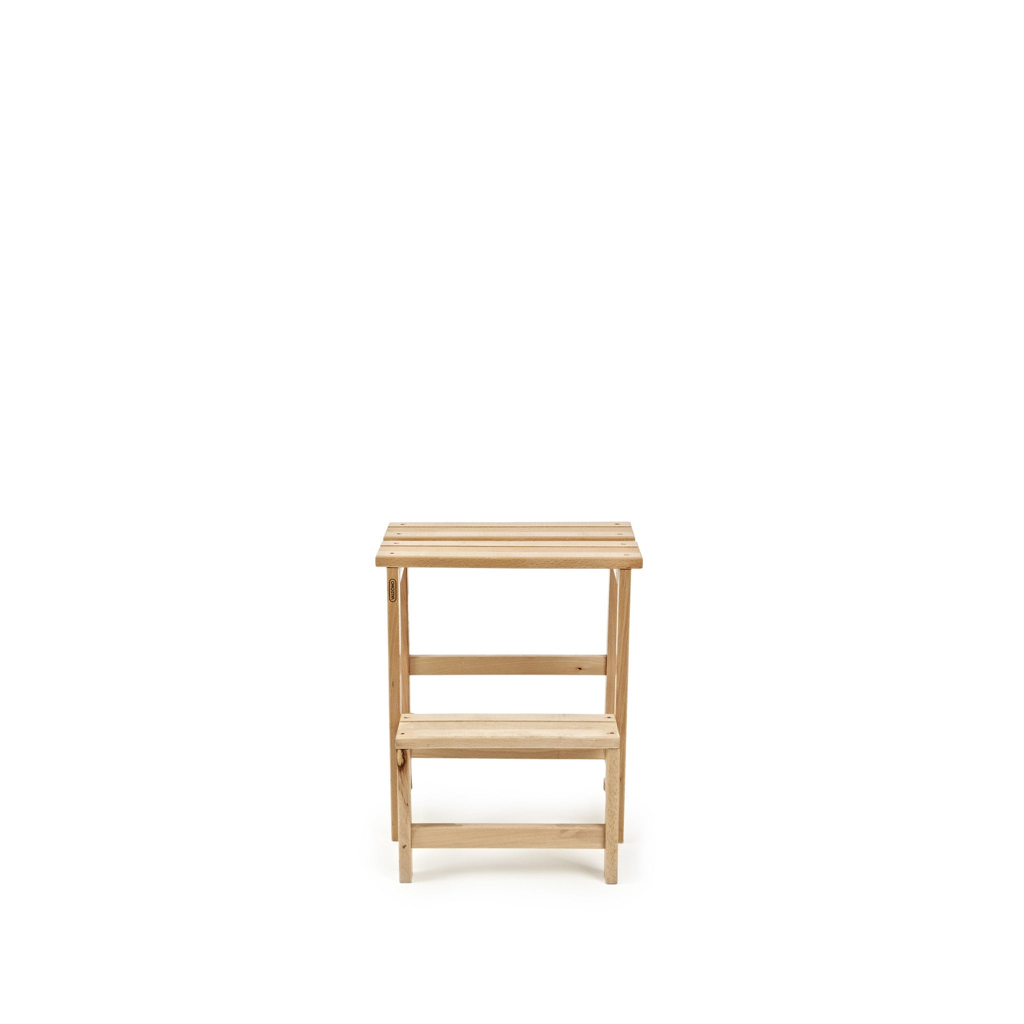 Two Step Wooden Ladder