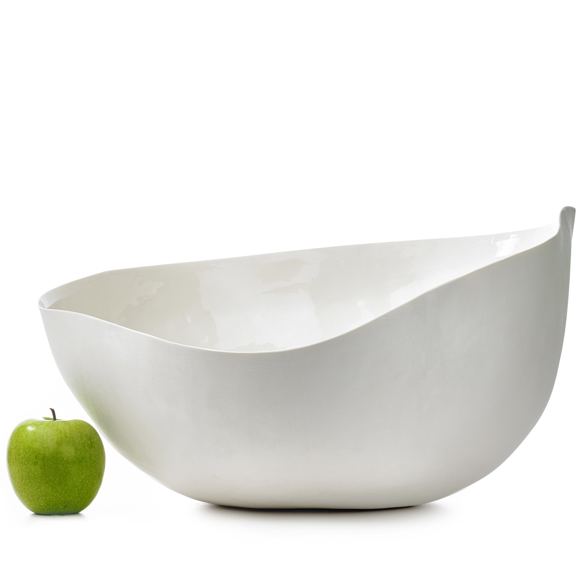 S&B Handmade 50cm Porcelain Giant Salad Bowl with Plain Rim