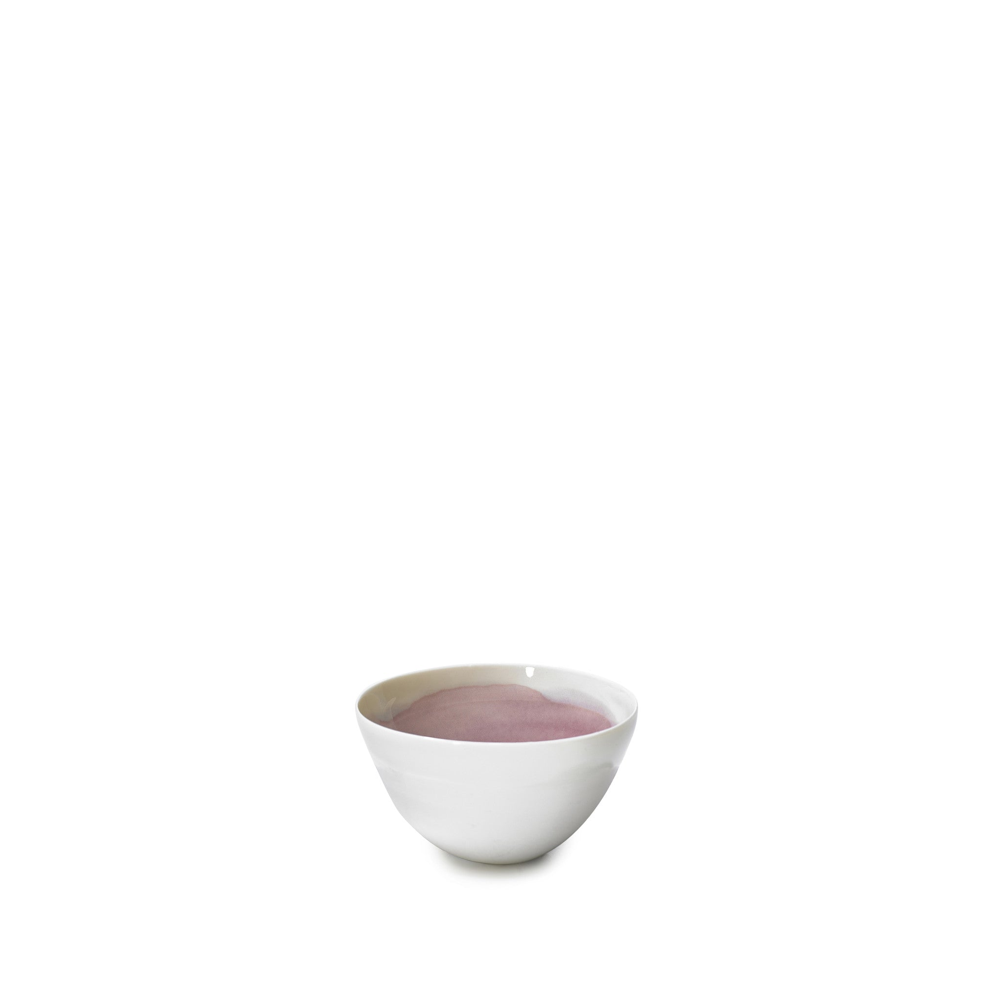 Small Grape Purple Ceramic Bowl with White Edge, 8cm