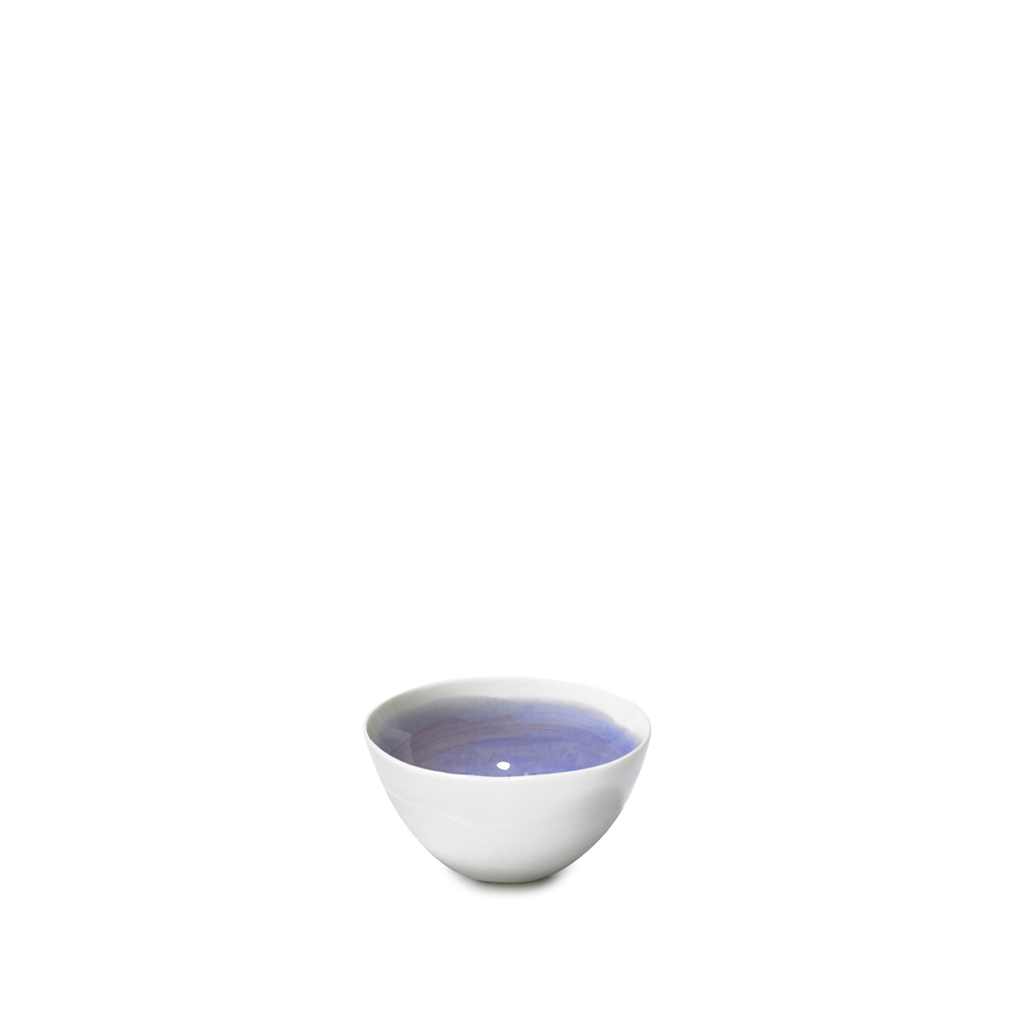 Small Violet Porcelain Bowl with White Edge, 8cm