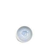 Small Light Blue Ceramic Bowl with White Edge, 8cm