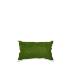 Hand Painted Linen Cushion in Avocado Green, 50cm x 30cm