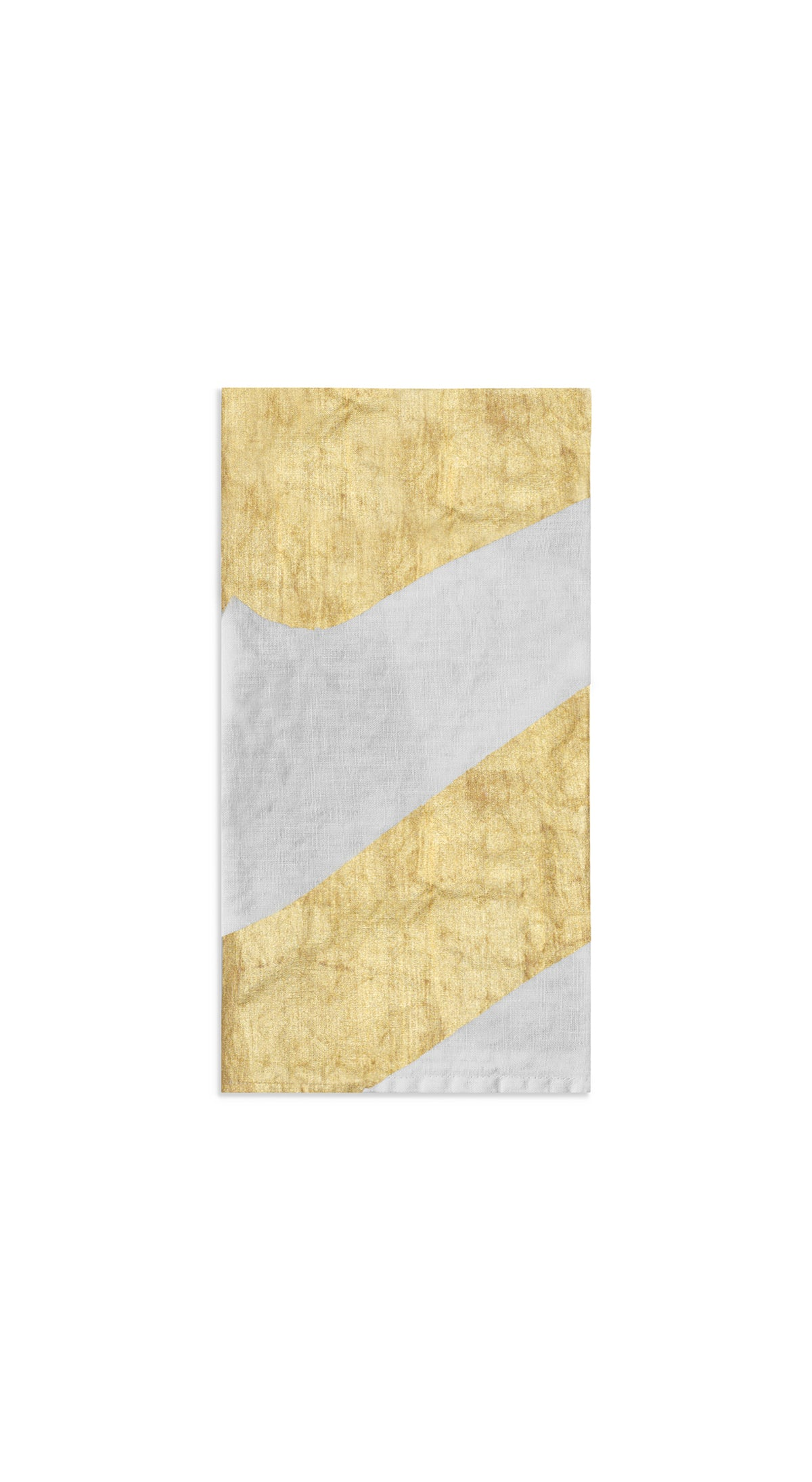 Alphabet Napkin 'V' in Gold