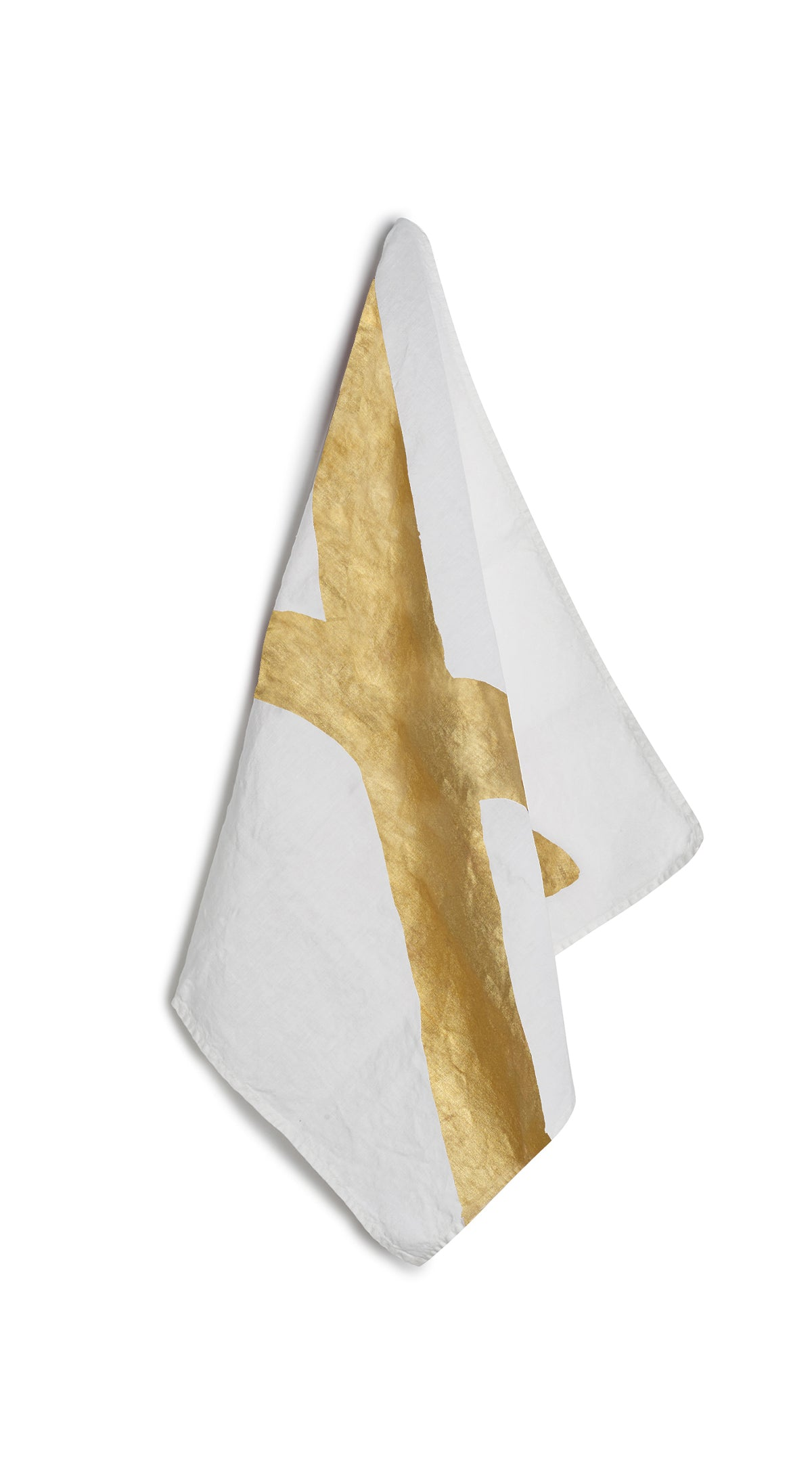 Alphabet Napkin 'X' in Gold