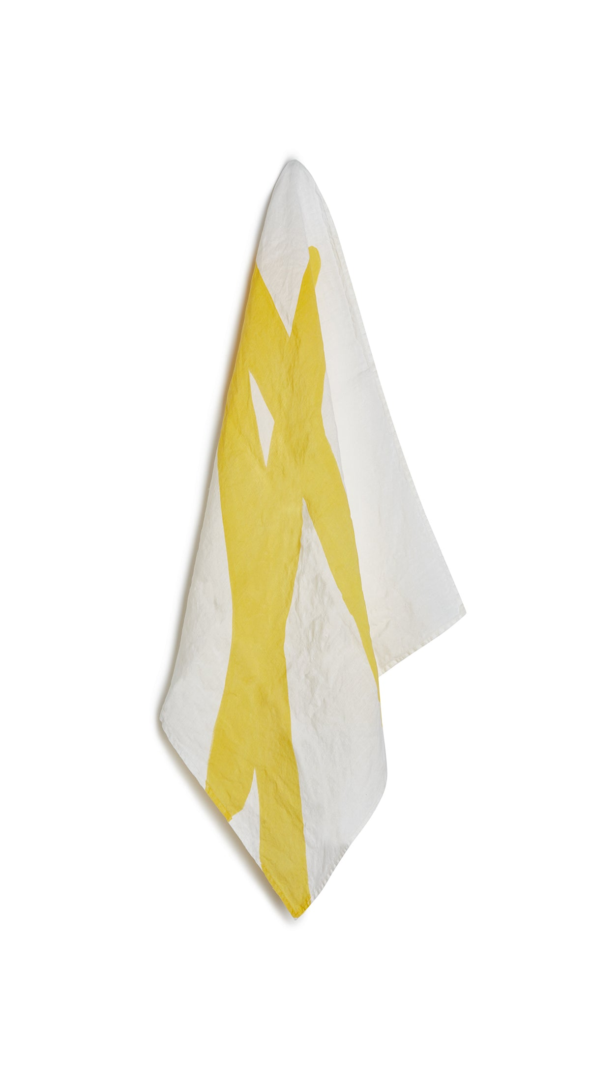 Alphabet Napkin 'A' in Lemon Yellow