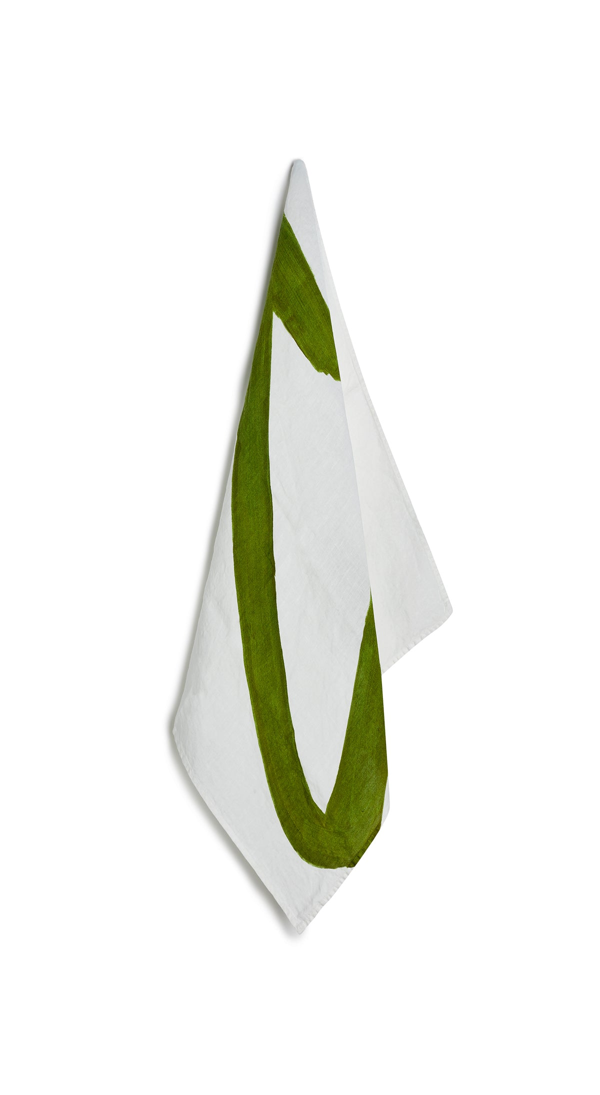 Alphabet Napkin 'C' in Avocado Green