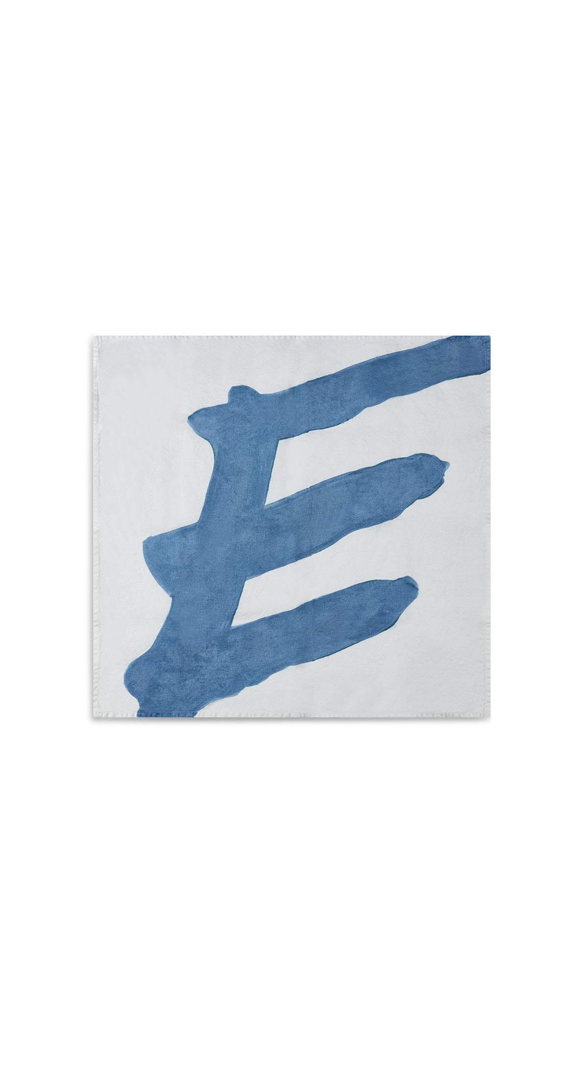 Alphabet Napkin 'E' in Powder Blue