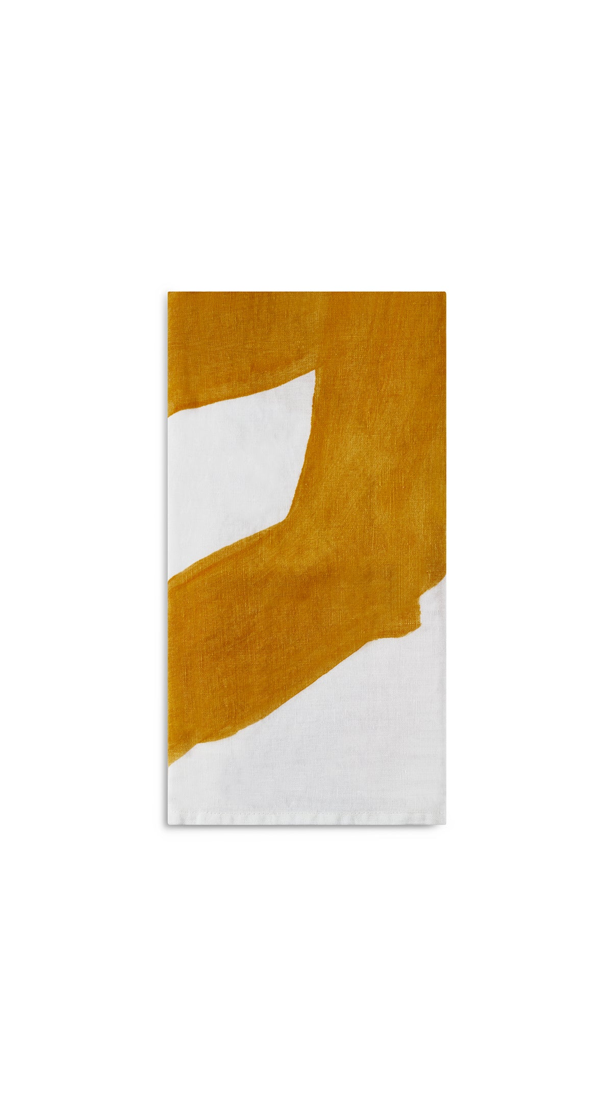 Alphabet Napkin 'F' in Mustard Yellow